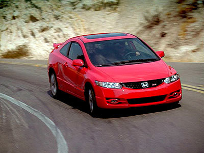 dreams sports cars 2010 honda civic coupe si preview. Black Bedroom Furniture Sets. Home Design Ideas
